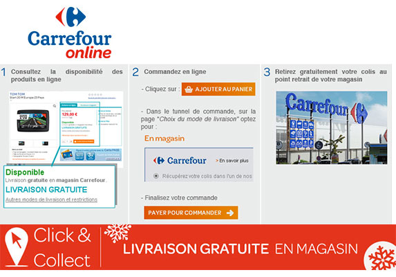faire savoir faire march maison carrefour lance le click and collect. Black Bedroom Furniture Sets. Home Design Ideas