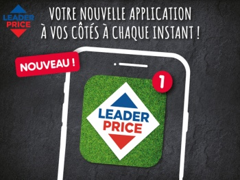 Leader Price lance son application mobile