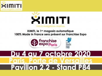 XIMITI, le 1er magasin automatique 100% Made in France sera présent sur Franchise Expo